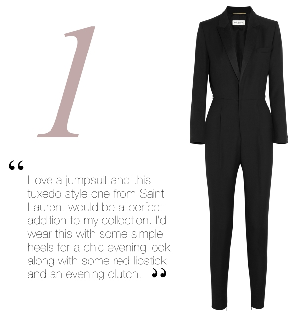 Click above for YSL's Tuxedo Jumpsuit