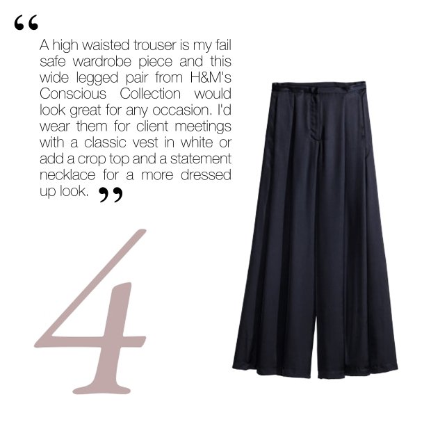 Wide Satin Trousers, £29.99, H & M
