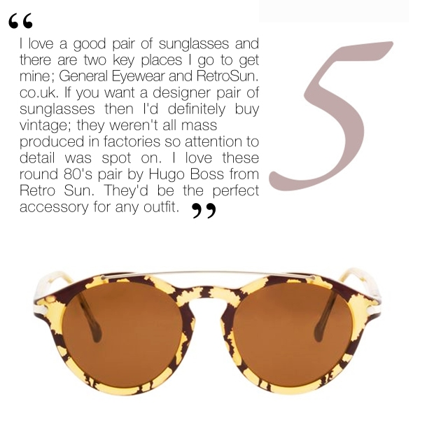 Round The Twist Sunglasses, £180, Hugo Boss at Retro Sun