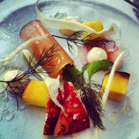 Lobster with Peach and Fennel