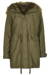 Fur Trimmed Parka £98, Topshop