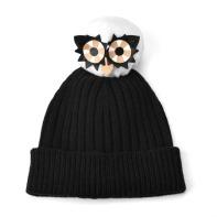Cashmere Owl Pom Pom Hat, £125