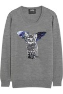 Catbat Sequined erino Wool Sweater £295 Markus Lupfer at Net-A-Porter