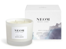 Lavender, Jasmine and Brazilian Rosewood Scented Candel, £45, Neom Organics