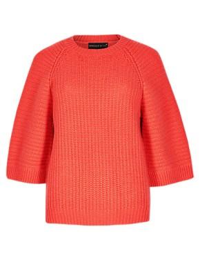 Speziale Wool Rich Kimono Jumper with Cashmere, £51.99, Per Una