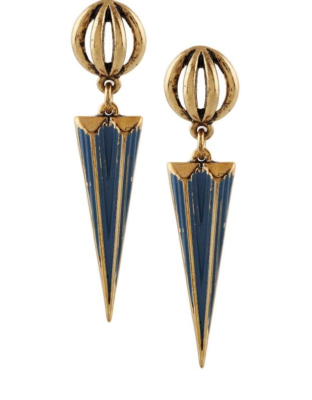 Orbit Gold-Tone Earrings, £54 Lulu Frost. The Outnet