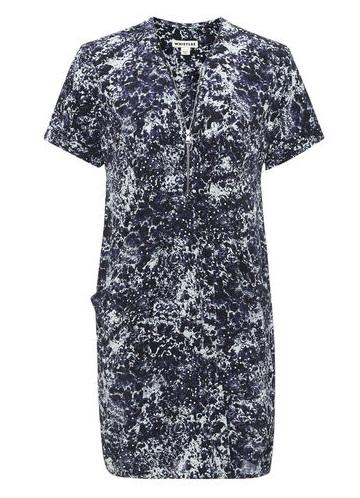 Poppy Pearlised Print Dress, £90, Whistles