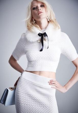 Faux fur collar, £12 Matching pencil skirt, £20