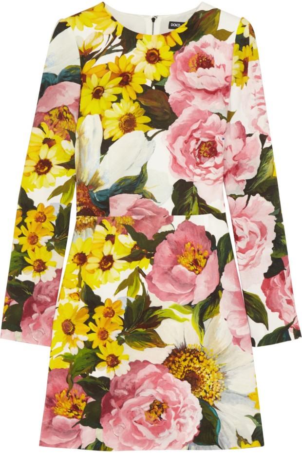 Floral Print Cady Dress, £1100