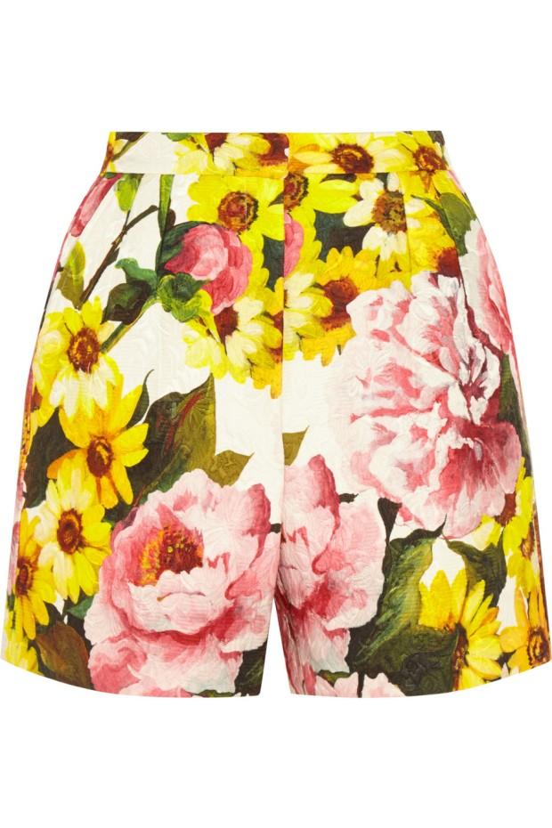 Floral Print Jacquard Shorts, £465