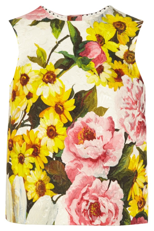 Floral Print Jacquard Top, £575