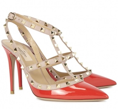 Valentino Rockstud Red Patent Leather Pumps £615