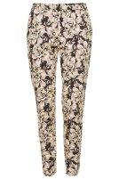 Floral Print Scuba Cigarette Trousers £42 Topshop