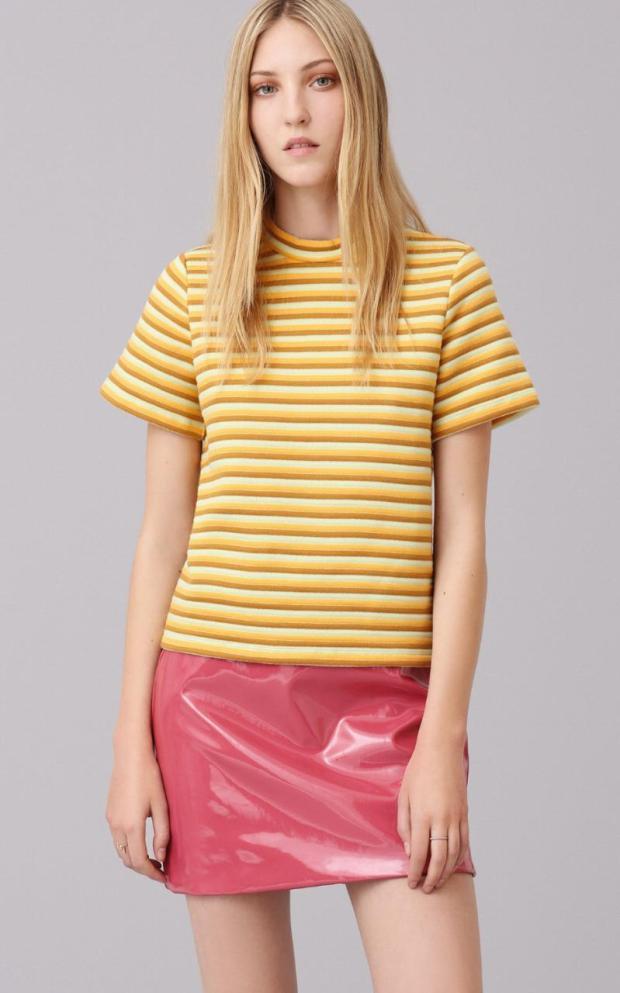 T-Shirt £32 Vinyl Skirt £45