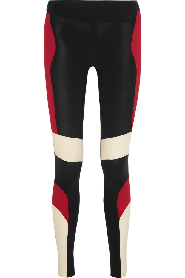 Huli paneled stretch-jersey leggings no kaio