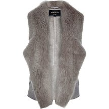 Grey Plush Faux Fur Gilet £60 River Island