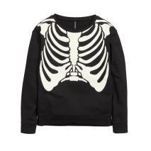 Sweatshirt with Skeleton Print £5.99 H&M