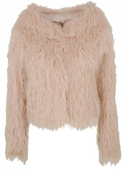 Hooded fur coat, £110