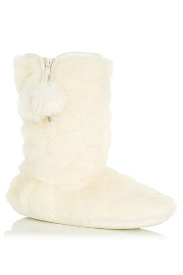 Oasis Fluffy Fur Bootie Slipper, £18