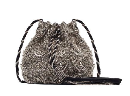 Beaded Drawstring Bag, £39.99 Zara