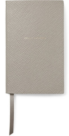 Duly Noted Cross-Grain Leather Panama Notebook, £45 Smythson