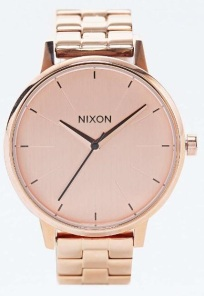 Nixon Kensington watch in rose gold, £170, Urban Outfitters