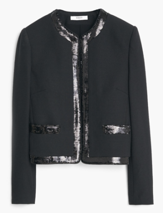 Sequin Jacket, £39.99 Mango