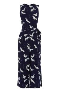 Bird Print Culotte Jumpsuit £65 Warehouse
