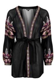 Floral Embroidered Robe, £48 Topshop