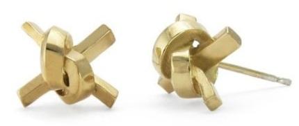 Jessica Poole's Love Knot Studs £90, Culture Label)
