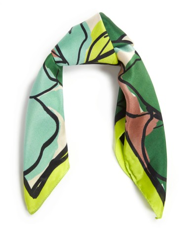 Green Ink Floral Square Scarf £60 Paul Smith