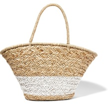 Painted woven straw tote £115